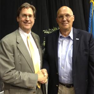 Tulsa Mayor Dewey Bartlett (left) and national radio talk show host Neal Boortz.
