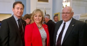 Senator Ron Sharp, Governor Fallin, and Transportation Sec. Gary Ridley at the state Capitol Thursday where an $800 million transportation project was announced which includes a new spur connecting I-40 in eastern Oklahoma County to the Turner Turnpike.
