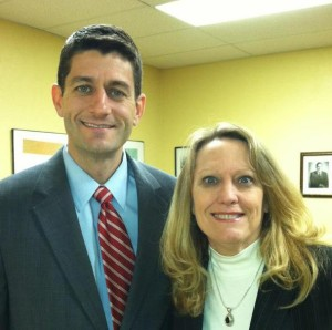 House Speaker Paul Ryan and GOP State Chair Pam Pollare
